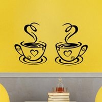 Wall Stickers Arrival Beautiful Design Coffee Mugs Tea Art Decal Sticker Home Decoration Accessories
