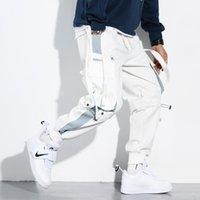 Апрель Momo Комбинезон Мужской Tide Бренд Tie-Foot Мужские Повседневные Брюки Осень Новый Trend Wild Свободные Белые штаны Мужчины
