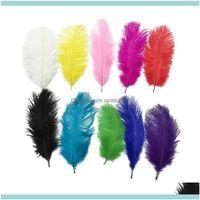 Поставки Главная Gardenwhite 25-30 см (10-12 дюймов) Страус перья перья для свадебных центров вечеринка декор событий праздничное украшение много капель