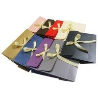Confezione Borse regalo di carta con fiocco nastro deluxe sciarpa guantoni cappelli con scatola dei monili box carrier sacchetto del partito favorire il trattare l'involucro