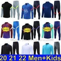 2122 Real Madrid Soccer Trainingsanzug Trainingsanzüge Messi Football Training Anzüge Kit Chandal Futbol Kinder Männer Jungen Herrenjacke Tuta Set Sets Sportswear