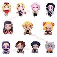Japan Anime Demon Slayer Doll plushies Kimetsu No Yaiba Kamado Tanjirou Nezuko Zenitsu Kyoujurou Figurine Plush Kids Toy Gift 20cm