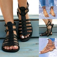 Summer Femmes Chaussures Plat Beach Sandales Dames Mode Roma Plat Solide Sandales Sandales Casual Chaussures Sandales Taille 36- 431