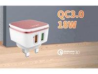 18 Вт быстро адаптивное настенное зарядное устройство 2USB для путешествий Домой Быстрый адаптер питания QC3.0 US UK EU AU Plug Top Качество CE FCC ROHS с розничной упаковкой