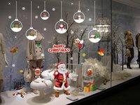 Frohe Weihnachten Liefert Fenster Aufkleber Nette Santa Claus Schneeflocke Elk WindowGLASSSTICKERS FÜR NEUE JAHR 2022 Weihnachten Party Home Wall Decals