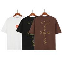 T-shirt da uomo T-shirt da uomo T-shirt High Street Cactus Jack Style Manica Corta Neck Collo Moda stampa Stampata Donne Tshirt Dimensioni S-XL