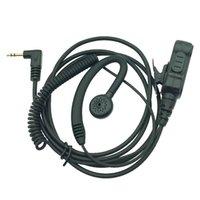 Walkie talkie headset, Advanced Police C-Ring Ear Hanger Earpiece with PTT Mic, 1Pin Big Knob Earplugs Percompatible for Moto Talkabout Radio EM1000 MS350 TKLR-T3 FV200