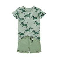 baby boy designer clothes Kids sets 100%Cotton summer boy's set Short sleeve T shirt with cloak + denim short kids clothing sets