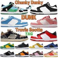 Chunky Dunky Unc Dunk Mens Running Shoes Chicago White Black Travis Scotts Coast Elephant Plum Shadow Men Women Sports Sneakers Pine Green