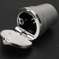 Aluminiumlegierung Auto Aschenbecher mit Abdeckung rauchlosen LED Multifunktions-Asche-Fach-Gold-Silber-Plattierung Rauchen Zubehör Kreatives neues HWF5973