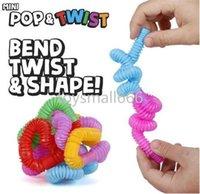 미니 팝 튜브 FIDGET 장난감 튜브 트위스트 감각 재미 있은 손가락 게임 스트레스 불안 릴리프 압착 파이프 스트레치 텔레스코픽 벨로우즈