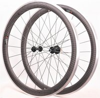 Rodas de bicicleta Fibra de carbono Roda de roda de bicicleta de alumínio Superfície de freio 700C 38mm 50mm OEM 12K Wheelset R13 R16
