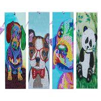 4PCS DIY Картина Bookmark Diamond Вышивка Комплект Кребец Аксессуары для крестики для взрослых Арт Craft