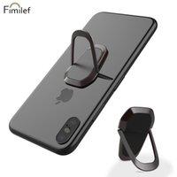 Montaje de teléfonos celulares soportes Fimilef Metal Finger Negro rojo oro para Soporte de Smartphone Universal Soporte Móvil