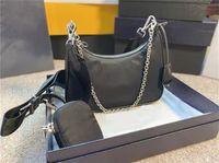 9 farben 2005 drei stück set frauen tasche stil nylon casual handtaschen mode weibliche messenger umhängetaschen damen kreuz körper geldbörse großhandel