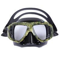 Swimming Snorkeling Mask With Tempered Glass Lens Freediving Spearfishing Equipment Camouflage Anti-fog Ultra-soft Diving Masks