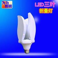 Три листа лампы Четыре Leaf Lamp Пять-Лист лампы постоянного тока Винт Бытовая Крытый UFO Складной Garage свет Три листа лампы