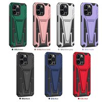 Kickstand case TPU PC 2 in 1 phone cover for iPhone 13 pro max SAM A12 A02S A32 5G A22 4G S21FE