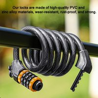Bike Locks Universal Anti-Theft Bicycle Lock Stainless Steel Cable For Motorcycle Cycle MTB Security With 5 Digital Code Set