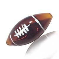 Latest Football Shape Pyrex Thick Glass Smoking Tube Handpipe Portable Handmade Dry Herb Tobacco Oil Rigs Filter Bong Hand Novelty Art Pipes DHL Free