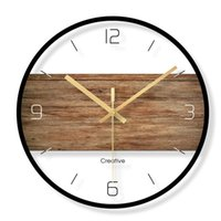 Wall Clocks Nordic Metal Simple Clock Modern Silent Creative Living Room Bedroom Reloj Pared Madera Home Decor QAB50WC
