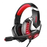 New Wired Gaming Headset Gamer Headphones Sound Stereo Earphones USB Microphone LED Light For PS4 Computer PC Gamer