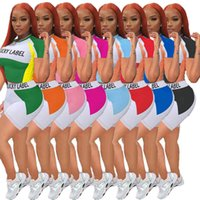 Boyut Giyim 836-1 Giysi degrade 2 İki Parçalı Kıyafetler Koşu Biker Şort Takım Elbise Kravat Boya Bayanlar Rahat Pantolon Artı Kadın Eşofman Tasarım