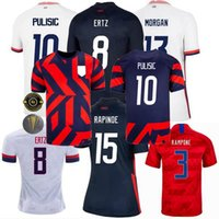 United Home Away Statess Soccer Jersey 20 21 22 Zardes Rapinoe Morgan Ettz Lloyd Pisrosic Heath Men Shirt Kids Football Kit