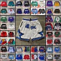 Baloncesto corto Just Sport Sports Hip Pop Summer Summer Pantalón con cremallera de bolsillo Sweatpants Mitchell Ness Retro Pantalones de costura