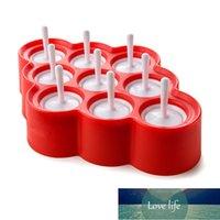 Lindo Silicone Mini Ice Pops Molde Helado Ball Lolly Maker Popsicle Con 9 Pegatinas Moldes de Popsicle Helado