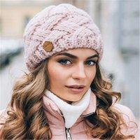 Berretto / cranio tappi retrò stile diamante reticolo di metalllo spessore azzowool lavorazione a maglia da uomo e donna cappello in lana invernale autunno