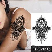 Wodoodporne Tatuaże Naklejki Tatuaż Naklejki Tatuaż Czarny Mężczyźni Kobiety Ramię Fałszywy Rękaw Tatuaż Maszyna Tribal Dragon Skull Rose Flower Ramię Tatuaos Henna Body Art