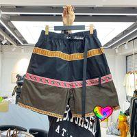 Şort 2021 Erkek Kadın Yüksek Kaliteli Patchwork Çok Renkli Yan Şerit Overisze Pantolon