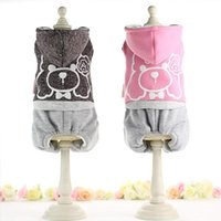 Dog Apparel Cute Animal Jumpsuit Winter Warm Fleece Small Cat Coat Jacket Chihuahua Shirt Hoodie Clothes For Pitbull
