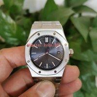 Mükemmel İyi Saatı Saatler Ultra-ince 15202 Paslanmaz Çelik Otomatik Mekanik Şeffaf Erkek Erkekler İzle