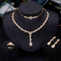 Fashion Saudi Arabia Bridal Jewelry Set Cubic Zirconia Luxury Trendy Wedding Ring Earring Women Accessories Quality A+