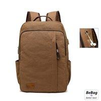 Canvas USB Laptop Backpack Mens Shoulder Bags Anti-Theft Bag Femal Leisure Travel Large Capacity Bagpack School Mochila