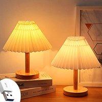Night Lights Ins Retro Folding Bedside Lamp, Bedroom Decoration, Umbrella, Table, Creative Gifts