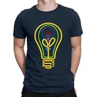 T-shirt da uomo T-shirt neon lampadina TSHIRT GRANDE HIPHOP TOPS Maschio Estate T Shirt for Men Crazy O Collo Lettera Anlarach Personalizzato