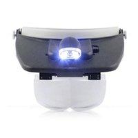 Mikroskop-Stirnband-Gläser-Lupe 1.0x 1.5x 2.5x 3.5x LED-Vergrößerungs-Augen-Verschleiß-Lupe mit Schmuckreparatur-Fernglas-Lupe