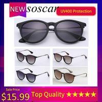 النظارات الشمسية خمر Erika للنساء Soscar Brand Designer UV400 الاستقطاب الشمسية أعلى جودة مع الملحقات كاملة 4171