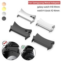 Watch Bands 2pc Metal Connector For Samsung Galaxy 4 40mm 44mm Stainless Steel Adapter Classic 42mm 46mm