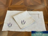 Hemstitch Poly+Linen Napkin/Placemat Provence, France,Lavender Natural Color Banquet/Hotel/Airbnb/Restraunt