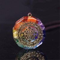 Natural Stone Synthetic Crystal Energy Pendant Necklace Jewelry Accessories Gift 2021 Necklaces