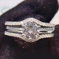 Cluster Rings 14K Gold 1 2 3 4 5 Moissanite Diamond Ring Women Bridal Set Elegant Round Trendy Wedding Party Engagement Anniversary