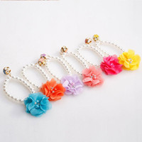 Cat Collars & Leads Candy Color Necklace Collar Pearl Ring Pet Accessories Floral Pendant Decoration Kitten Beauty Products Elastic Dog