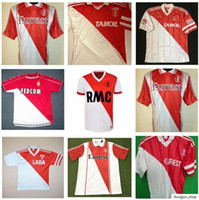 90 91 92 94 95 96 97 99 00 Monaco Retro Soccer Jerseys 1990 1991 1994 1995 1996 1997 1999 2000 Ben Yedder Jovetic Golovin Jorge Classic