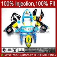 Injection mold Bodys For KAWASAKI NINJA ZX9 R ZX9R 98 99 00 01 Bodywork 17No.96 ZX900 ZX-900 900CC ZX-9R 1998 1999 2000 2001 ZX 9R 9 R 900 CC 98-99 OEM Fairing Kit shark cyan