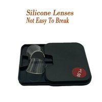 Lente di lettura bifocale siliconica Silicone 2 PCS Stick-on Desbyopic Lenti Lenti ingrandimento Laurea riutilizzabile da 1,5 a 3 Occhiali da sole