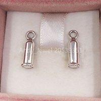 Pendiente de plata para el encanto de Pave hecho de 925 Sterling Silver Fit Pandora Style Ale Stud Jewelry